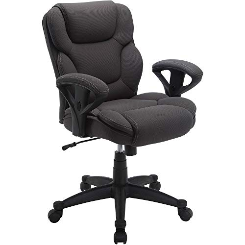 Big & Tall Fabric Manager Office Chair, Supports up to 300 lbs, Gray