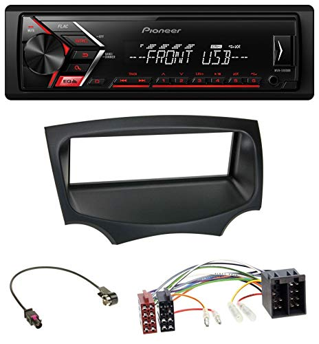 caraudio24 Pioneer MVH-S100UB USB AUX MP3 1DIN Autoradio für Ford Ka (RU8, ab 2008)