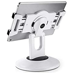 HIGHLY FLEXIBLE - The 360° rotatable base and tablet bracket holder combined with a folding arm offer unparalleled adjustment for typing or showcasing without missing any viewing angles. Turn display in a second between cashier and shopper or switch ...