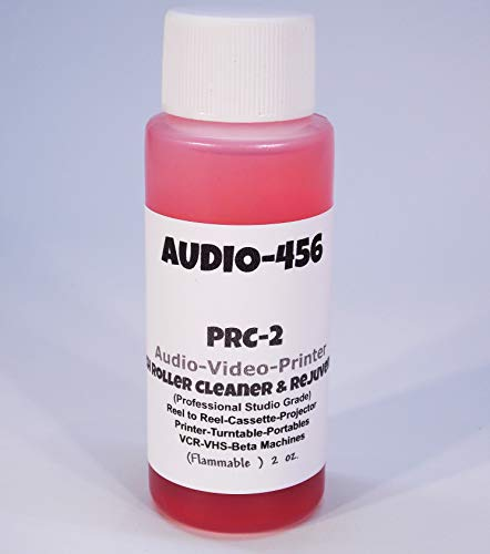Audio 456 PRC-2 Tape Deck Audio/Video Pinch Roller Cleaner Rejuvenator (2 oz).(formerly SR-Audio) for Reel to Reel,Cassette,Printers,Cricut,Tape Echo,VCR/Beta Machines,Sound Projectors,Digital Decks