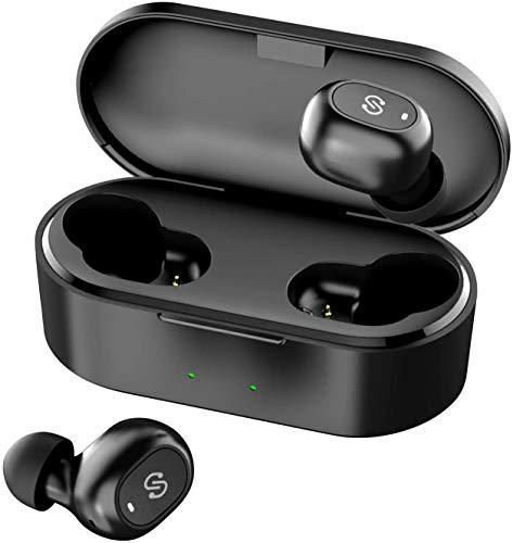 完全ワイヤレス イヤホン SoundPEATS Truefree+ Bluetooth イヤホン 自動ペアリング 小型 軽量 スポーツ イヤホン サウンドピーツ ブラック