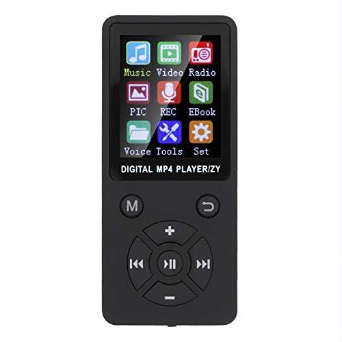 FOLOSAFENAR Musica T1 Lettore MP3 MP4 Supporto BT Memoria 32G Pulsanti a Otto diagrammi , Mini MP4 Portatile , Supporto Scheda di Memoria 32G , Supporto per Musica, Radio(Nero)