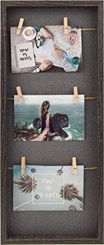 Gallery Solutions Bilderrahmen Collage Schwarz Wäscheleine mit Klammern 3 Fotos à 10x15 cm