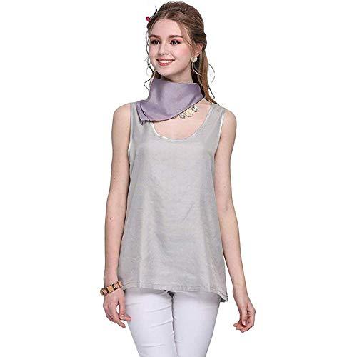 Vestido de maternidad contra la radiación de las mujeres embarazadas, camiseta de las trajes de radiación de fibra de plata 100%, mujeres embarazadas, ropa protectora de EMF ( Color : Silver )