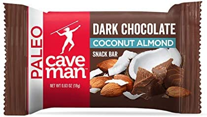 Caveman Foods Dark Chocolate Almond Coconut Keto Mini Snack Bars 30 Count product image
