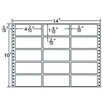 東洋印刷 タックフォームラベル 14インチ ×10インチ 15面付(1ケース500折) MX14E