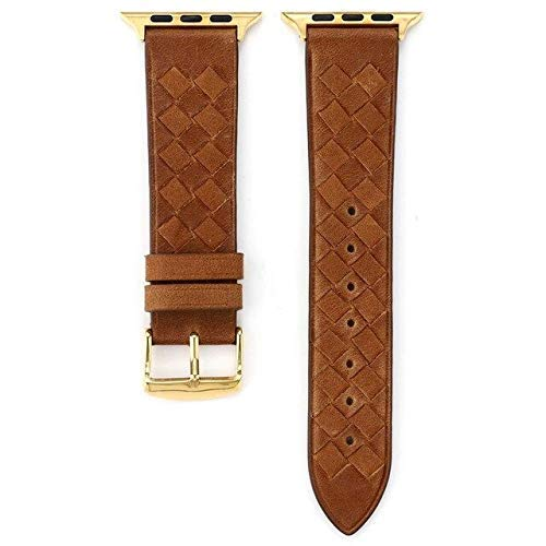 2021 The Latest Leather Strap for Compatible with Watch Band 4 m 40mm iwatch Band 42mm 38 m Correa pulseira Compatible with Watch 5 4 3 2 watchband Belt ( Color : Brown , Size : For apple watch 40mm )