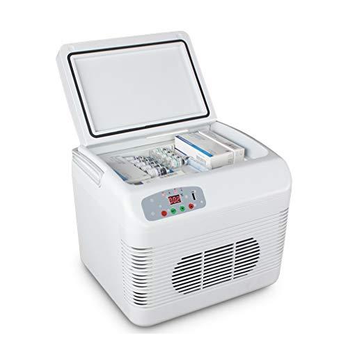 SPORETE Refrigerador de automóvil Almacenamiento de vacunas e insulina, Refrigerador Personal de automóvil, Enfriador y Calentador eléctrico, Almacenamiento de medicamentos, Conservación 2-8 ℃,Blanco