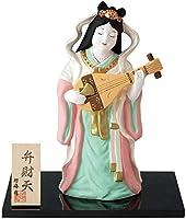 陶器 陶製 弁財天 七福神置物 (特大) デザイン:弁財天