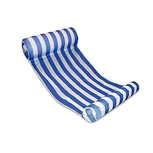 JanTeelGO Hamaca Flotante, Cama Flotante de Agua, Pool Tumbona Inflable del Agua, Sofá Plegable del Aire, Recliner para la Piscina de la Playa Adultos al Aire Libre Piscina Fiesta (Azul)