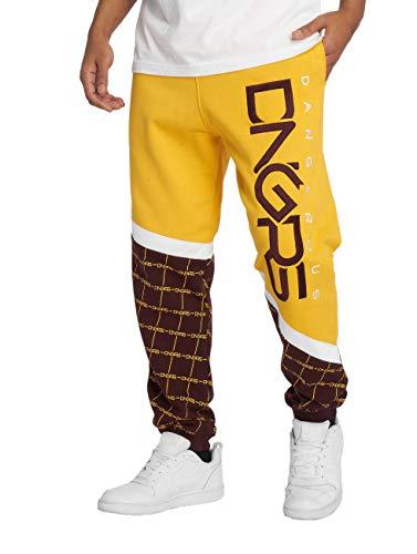 Dangerous DNGRS Herren Jogginghosen Woody gelb 3XL