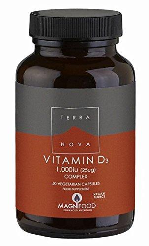 Terranova Vitamin D3 Complex, 1000IU (25µg), 50 Vegetarian Capsules