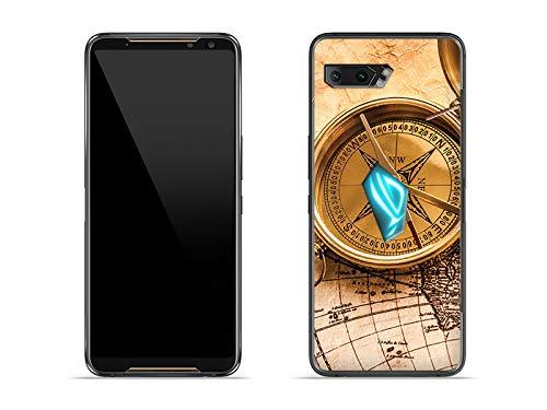 etuo Hülle für Asus ROG Phone 2 - Hülle Foto Hülle - Kompass Handyhülle Schutzhülle Etui Hülle Cover Tasche für Handy