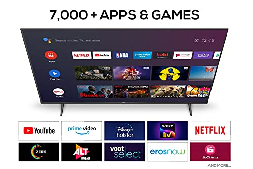 TCL 108 cm (43 inches) 4K Ultra HD Certified Android Smart LED TV 43P615 (Black) (2020 Model) | With Dolby Audio 3