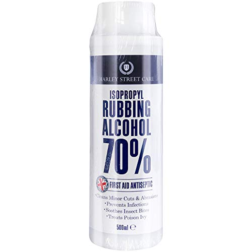 HSC 70% Isopropyl Rubbing Alcohol First Aid Antiseptic, Improved Formula and Packaging, 500 ml