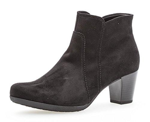 Gabor Ankle Boots 94.680, dames laarzen, enkellaarzen, halflaarzen, dameslaarzen, bootie, enkelhoog, blokhak 5 cm, inlegzool, F breedte (normaal), zwart, UK 5