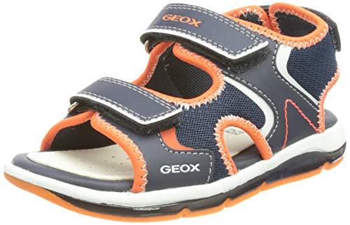Geox Baby-Jungen B TODO Boy A Sandals, Navy/ORANGEFLUO, 26 EU