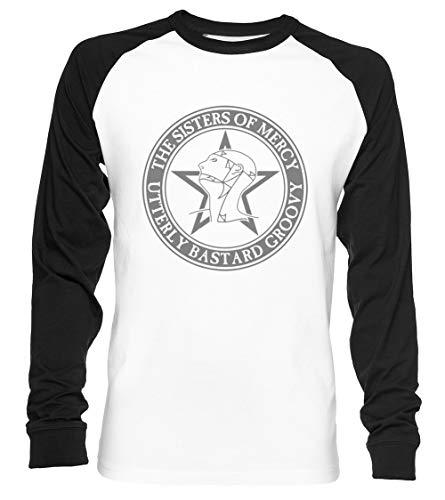 The Sisters of Mercy - The Worlds End - Utterly Bastard Groovy Unisex Baseball T-Shirt Langarm Herren Damen Weiß Schwarz