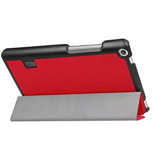 Huawei MediaPad T3 7 Hülle, Xinda Ultra Slim Lightweight Schutzhülle Etui Tasche für Huawei MediaPad T3 7.0 Zoll (Wifi BG2-W09) Tablet( NOT for Huawei MediaPad T3 7 LTE!) - 4