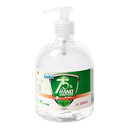 Rapid Care First Aid Cleace Advanced Premium 75% Alcohol 17 oz Instant Hand Sanitizer Gel, Kills More Than 99.99% of Germs & Bacteria, Pump Bottle (HS17-1)