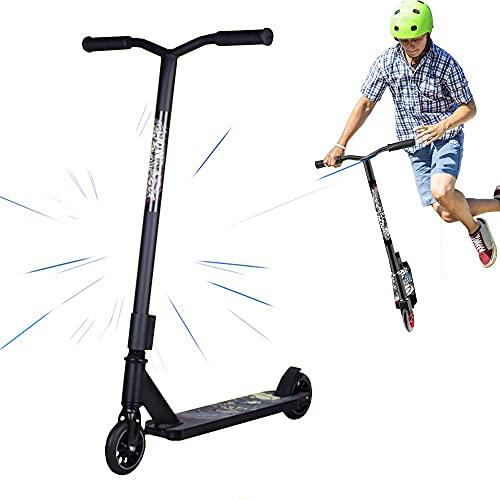 angroups Patinete Scooter Freestyle Adulto Patinete de Acrobacia Patinete de Trucos y Saltos con HIC Compresin Aluminio Ligero Cubierta Y Slido Core Ruedas Rodamientos ABEC-9,Carga 150kg