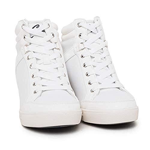 Guess Sneakers Donna Alta con Tacco Interno MOD.LYSA (39 EU)