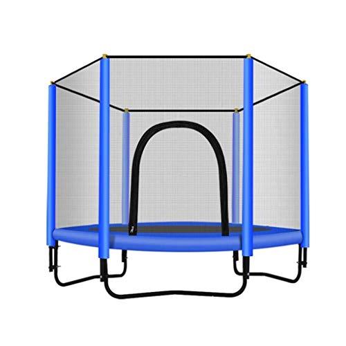 Xiao Jian Indoortrampoline, ronde trampoline met behuizing, voor binnen of buiten, trampoline voor kinderen, thuis/kantoor, cardiotrainer
