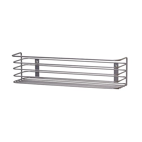 Household Essentials 1226-1 Long Basket Door Mount Cabinet Organizer | Mounts to Solid Cabinet Doors or Walls