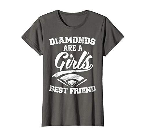 Diamonds are a Girl's Best Friend T-Shirt | Baseball Shirt