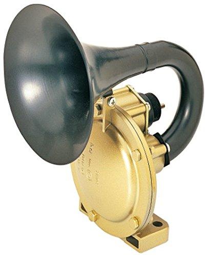 HELLA 3PA 004 206-031 Fanfare - 24V - 118dB(A) - Frequenzbereich: 350Hz - pneumatisch - Gehäusefarbe: schwarz - Rohrstutzen - Stecker: Rundstecker