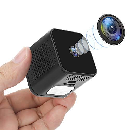 Mini Kameras,1080P P2P Tragbare Nanny Indoor WLAN Home Kamera mit Nachtsicht,Weitwinkel 150° Überwachungskamera mit Bewegungserkennung Unterstützung iOS/Android Micro IP Klein Security Kamera MEHRWEG