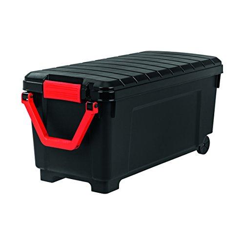 Iris Powerbox/Auflagenbox/Kissenbox 'Store It All', SIA-1000, fahrbar, abschließbar, robust, 170 L, Plastik, schwarz, 103 x 49,5 x 50 cm