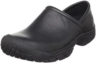 KEEN Utility Men's PTC Slip On 2 Low Height No Lace Chef Food Service Shoe, Black/Black, 10 Medium US