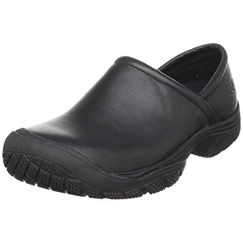 KEEN Utility Men's PTC Slip On 2 Low Height No Lace Chef Food Service Shoe, Black/Black, 11.5 Medium US