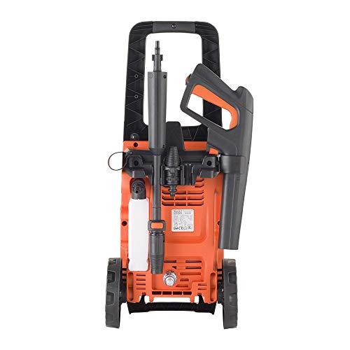 Black+Decker BXPW1400E Idropulitrice ad Alta Pressione (1400 W, 110 bar, 390 l/h), Senza serbatoio d'acqua, Nero/Arancione