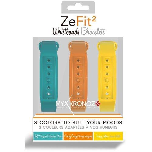 MyKronoz ZEFIT2-PACK-3-COLORAMA Extra austauschbar Wechselarmband 3-er Set
