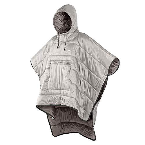 Manta con capucha mover portátil camping edredón al aire libre cálido camping saco de dormir viaje hombres y mujeres manto