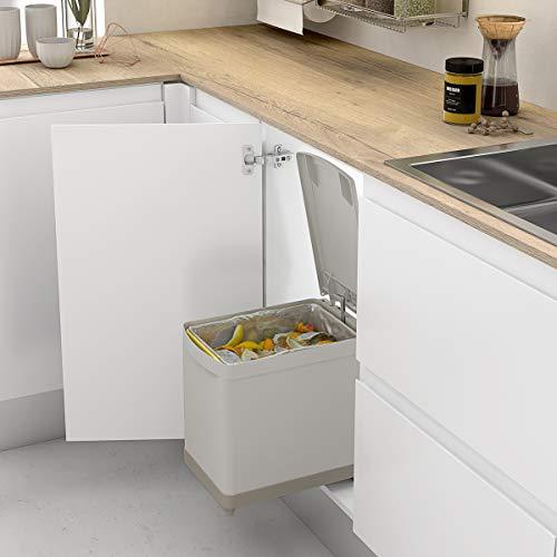 Casaenorden - Cubo de Basura extraíble de 16L para Mueble de Cocina