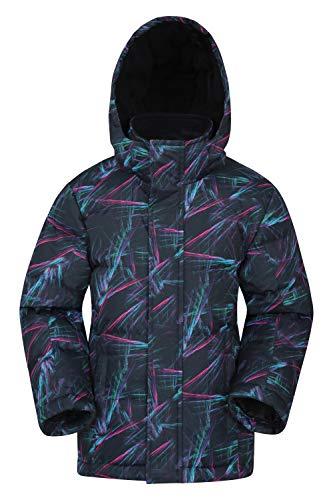 Mountain Warehouse Snow - Giacca da Neve Ragazzo - Resistente all'Acqua, Cappuccio Removibile - Ideale per Gli inverni Piú Freddi, Invernale Rosa 9-10 Anni