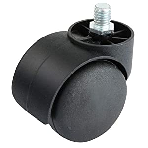 Ruedas de repuesto para silla de oficina giratoria, color negro y blanco, 5 unidades 2″New Type Golden-1 11X22mm