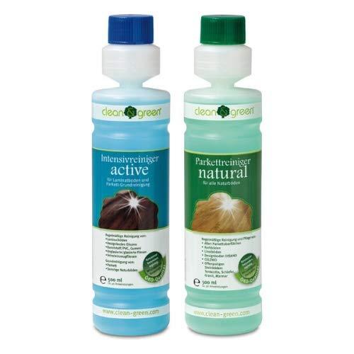clean & green Set Intensivreiniger active und Parkettreiniger natural