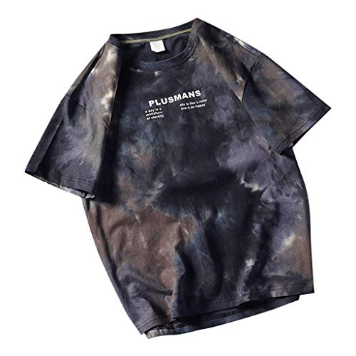 SHE.White Herren T-Shirts,2019 Modell Mode Persönlichkeit Tarnung Herren Beiläufig Schlank Kurzarm Hemd Top Bluse Sweatshirt Slim Fit T-Shirt Kurzarmshirt Oversize M-5XL