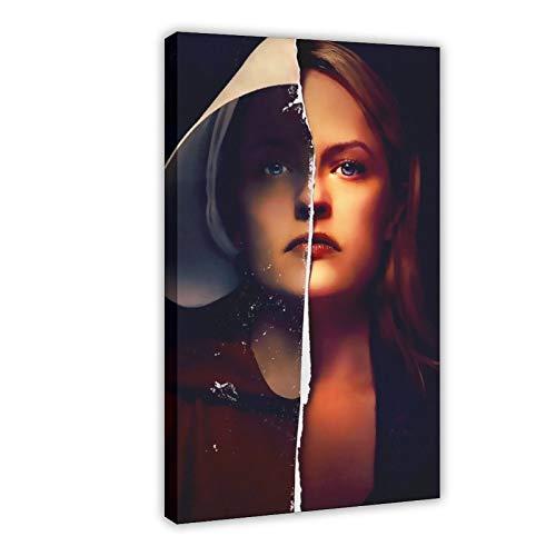Poster su tela con scritta 'The Handmaids Tale' in stile retrò, decorazione da parete per soggiorno, camera da letto, 40 x 60 cm