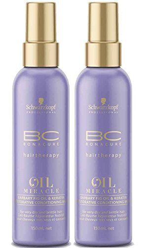 Schwarzkopf 2 unidades Schwarzkopf BC Oil Miracle Kaktusfeigenöl Spray Conditioner 150 ml