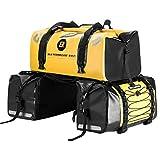 ROCKBROS Motorrad 62L Gepäckträgertaschen + 55L Gepäckrolle 100% Wasserdicht Motorradtaschen PVC Doppel Satteltaschen
