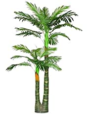 Sofix Tall Artificial Palm Tree Green Plant for Home Décor - 4.65 Feet