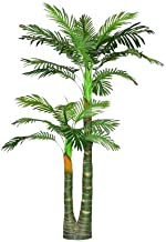 Hyperboles Artificial Palm Tree with Large Silk Green Leaves Fake House Office Plant 4.65-Feet, with No Pot(629#)