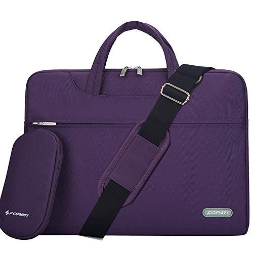 YOUPECK Laptop Shoulder Bag, 12-13.3 inch Laptop Case, Slim Briefcase Computer Bag Business Carry Bag Waterproof Notebook Messenger Bag Sleeve for MacBook Lenovo ASUS Dell Acer Chromebook 13 - Purple