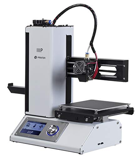 Monoprice - 15365 Select Mini 3D Printer v2 - White With Heated (120 x 120 x 120 mm) Build Plate,...