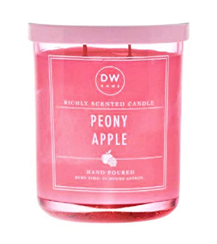 Richly Scented Candle Peony Apple in Large Pink Jar with Metal Lid